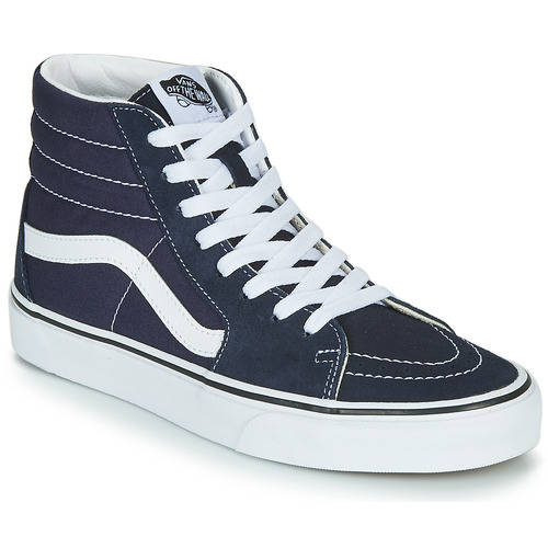 vans high navy white