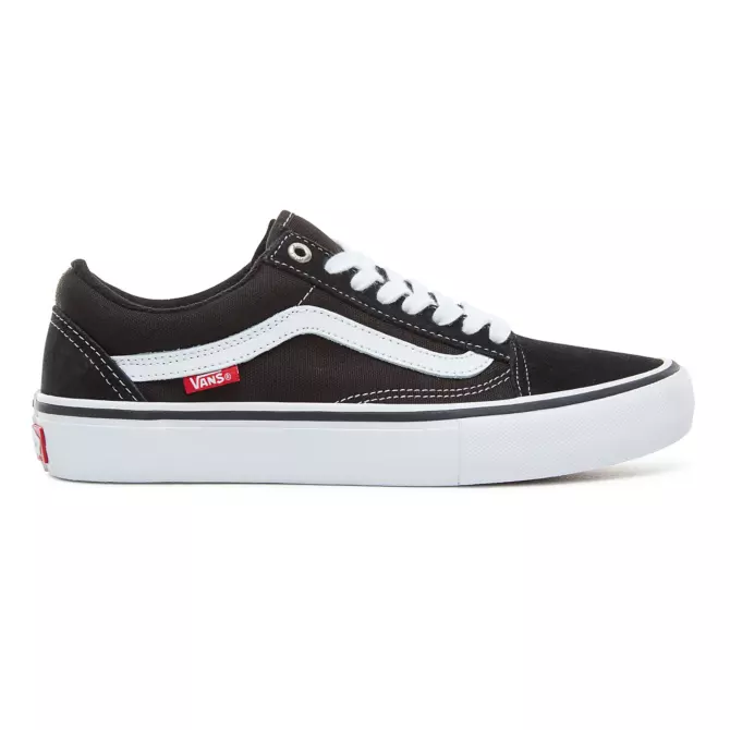 vans old school pro black white