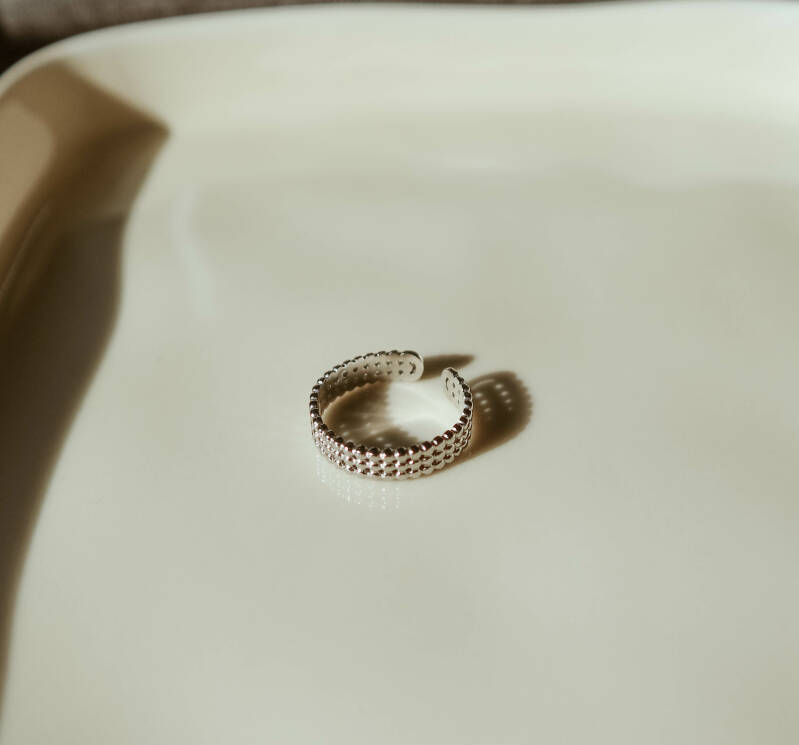 Pin ring zilver