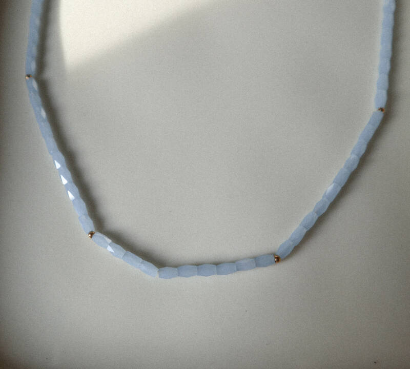 Baby blue necklace
