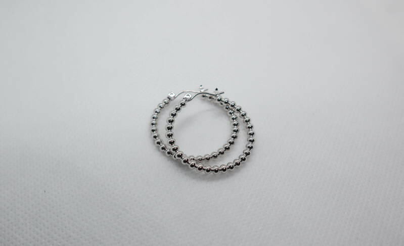 bubbly hoops zilver