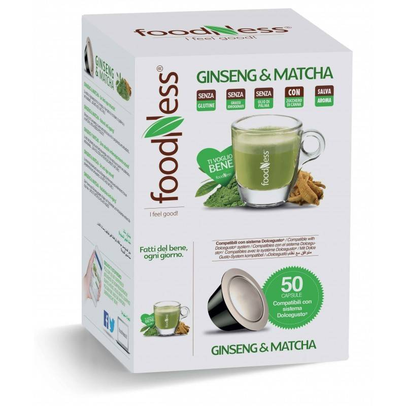 Foodness Ginseng & Matcha - Dolce Gusto® - 50 Capsules