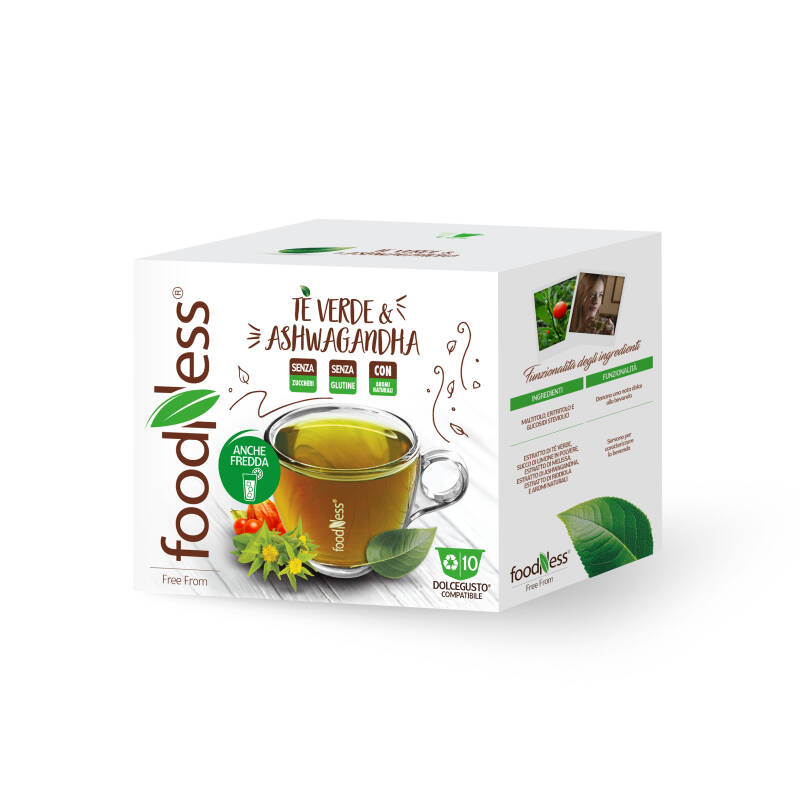 Foodness - Groene thee & Ashwagandha - Dolce Gusto® - 10 capsules