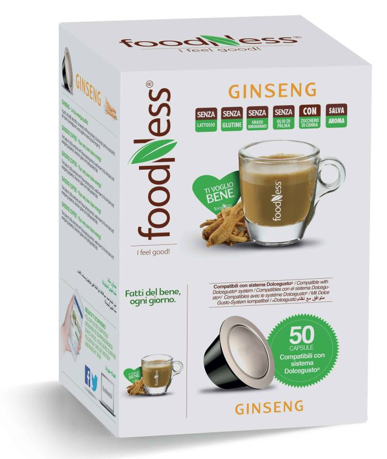 Foodness Ginseng - Dolce Gusto® - 50 Capsules (levertijd 3 weken)