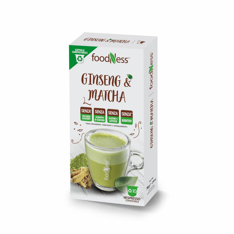 Foodness Ginseng & Matcha - Nespresso® cups - 10 capsules