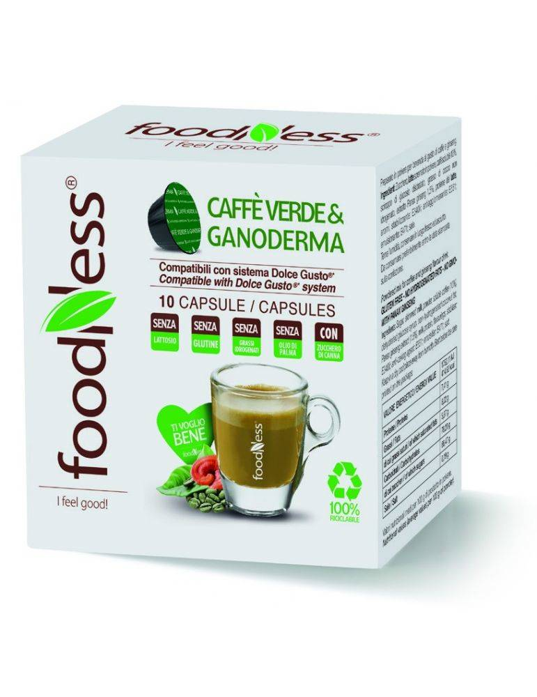 Foodness caffe verde & ganoderma - Dolce Gusto® - 10 capsules