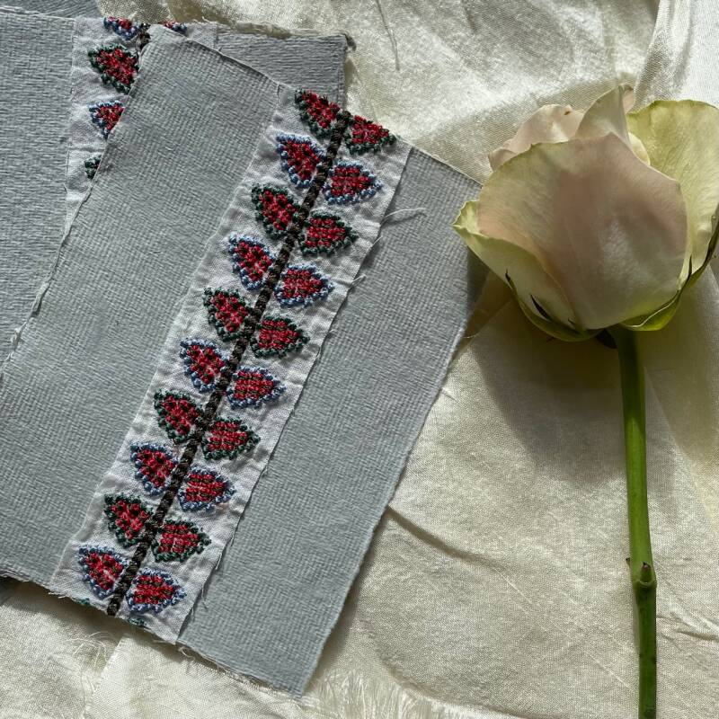Art Card Embroidered A6