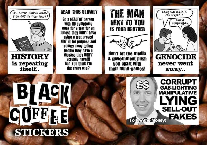 Black Coffee Mixed Sticker Packs