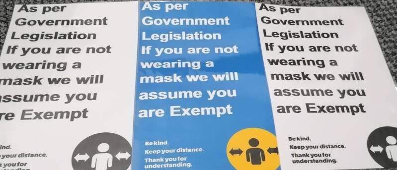 Mask Exemption A4 Laminated Sign