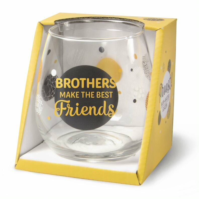Gin-waterglas: Brothers make the best friends.
