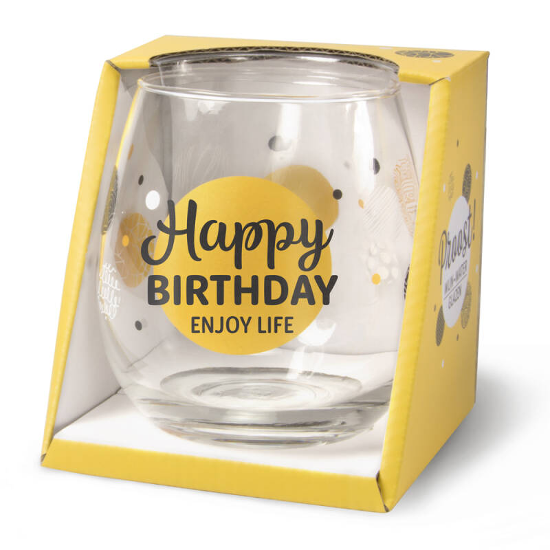 Gin-waterglas: Happy Birthday