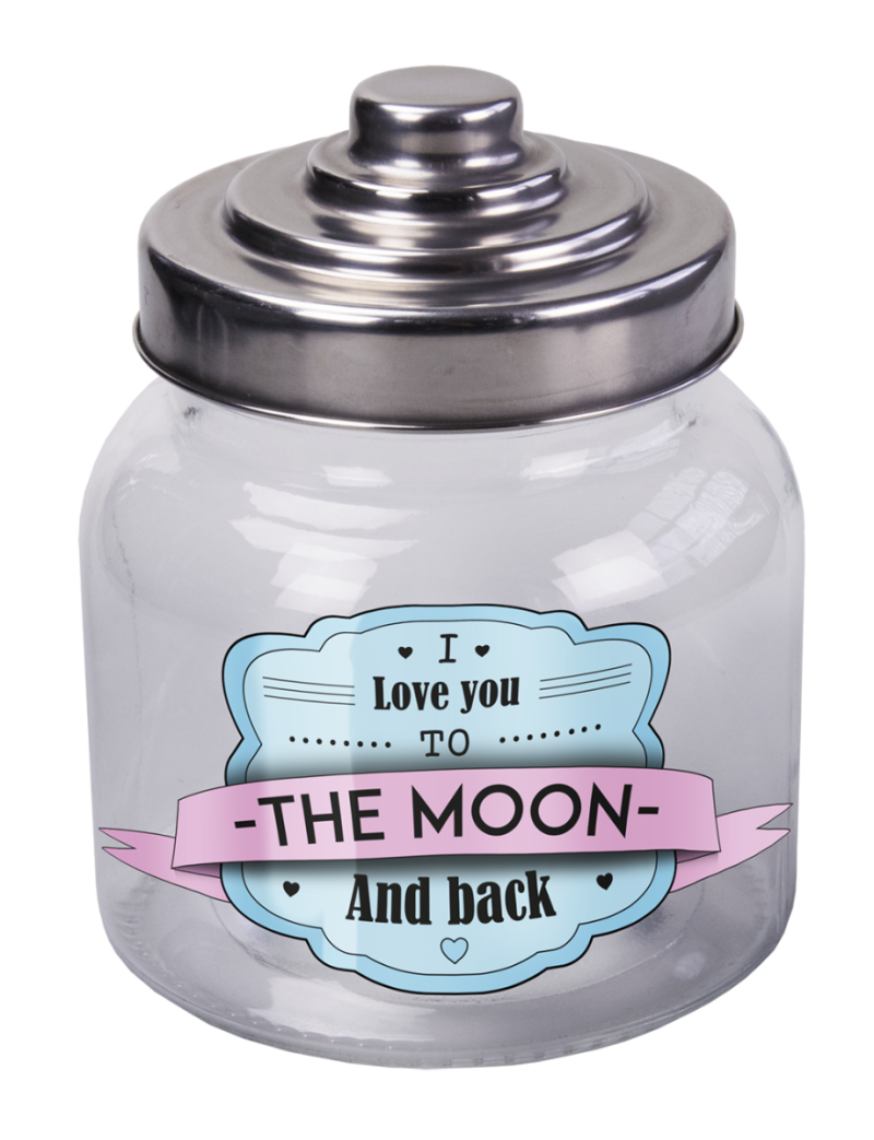 Snoeppot: I love you to the moon and back