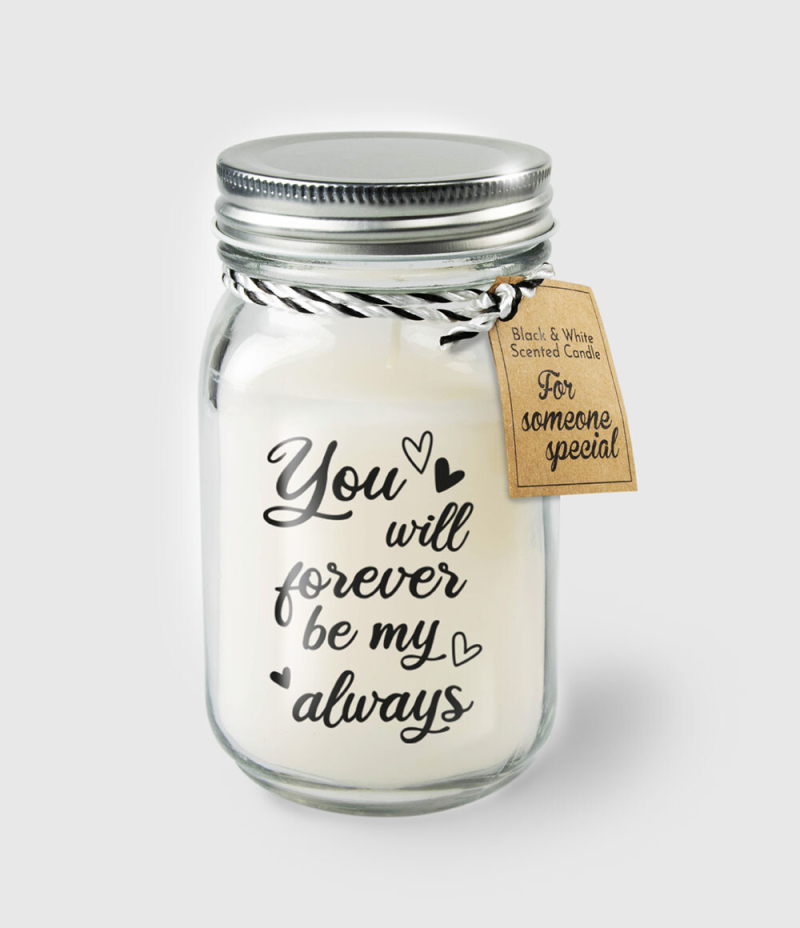 Geurkaars:'you will forever be my always'