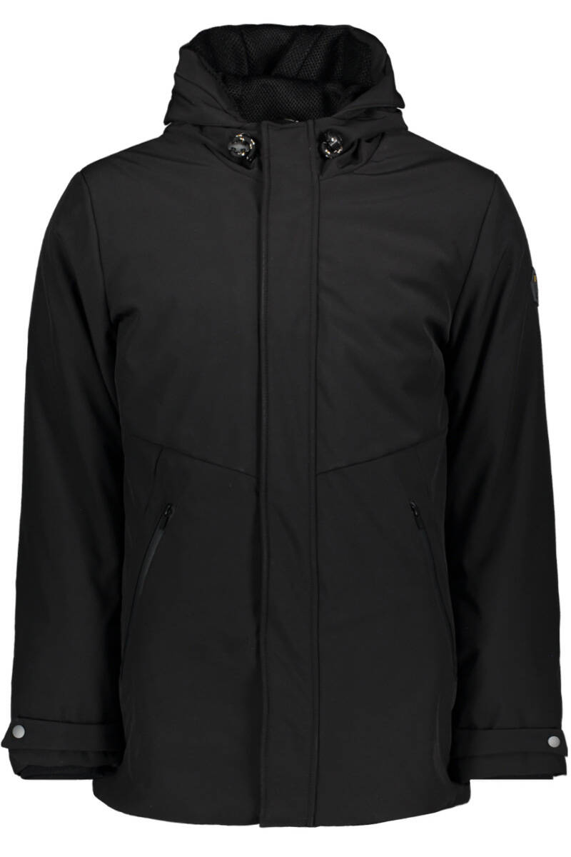 No Excess - Jacket Long Fit Hooded Parka Black