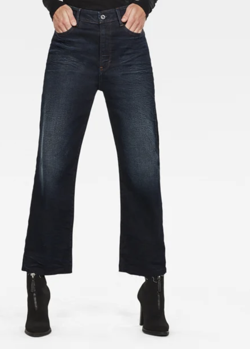 G-STAR Tedie Ultra High Straight RP Ankle Jeans