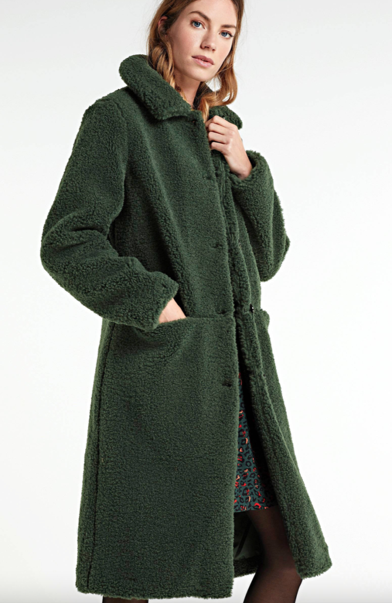 Another Label Moussy Coat - Green