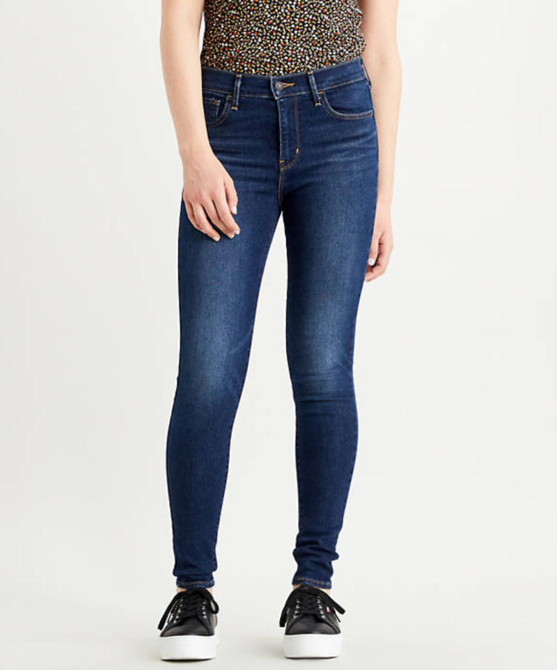 720™ High Rise Super Skinny Jeans Dark Blue