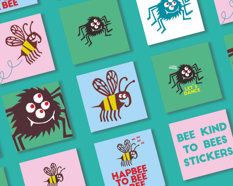Stickers Bee kind to Bees
