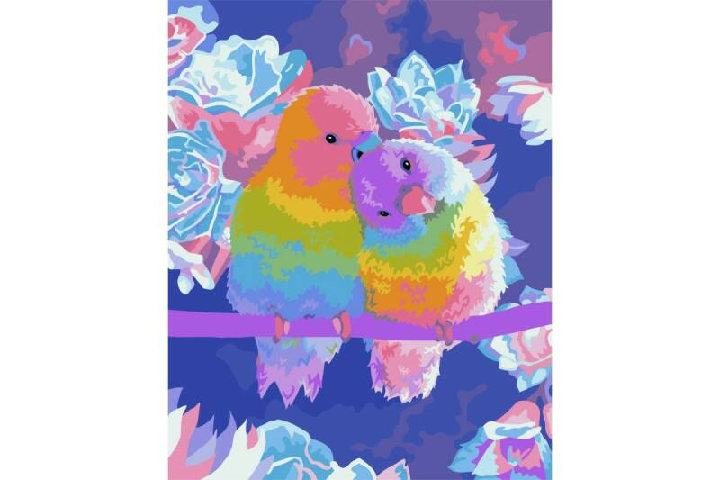 Painting by Numbers Kit Parrots in Love 40x50 cm ART3