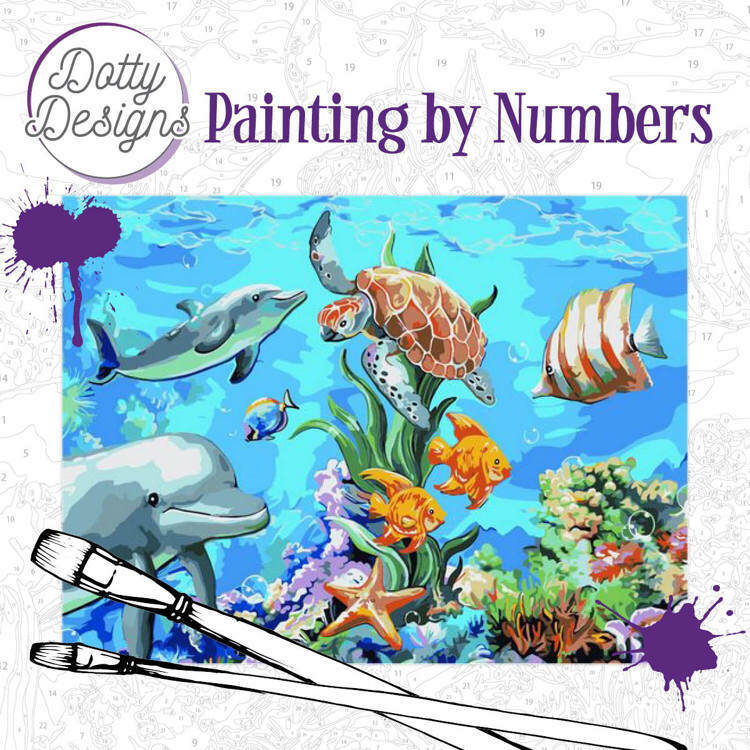 Dotty Design Painting by Numbers - Underwater World ART32