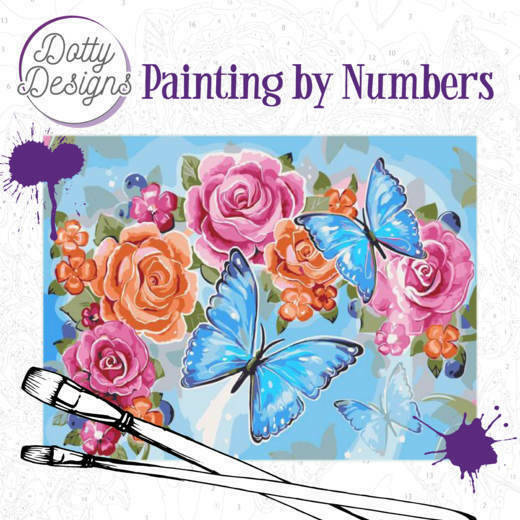 Dotty Design Painting by Numbers - Butterflies art34