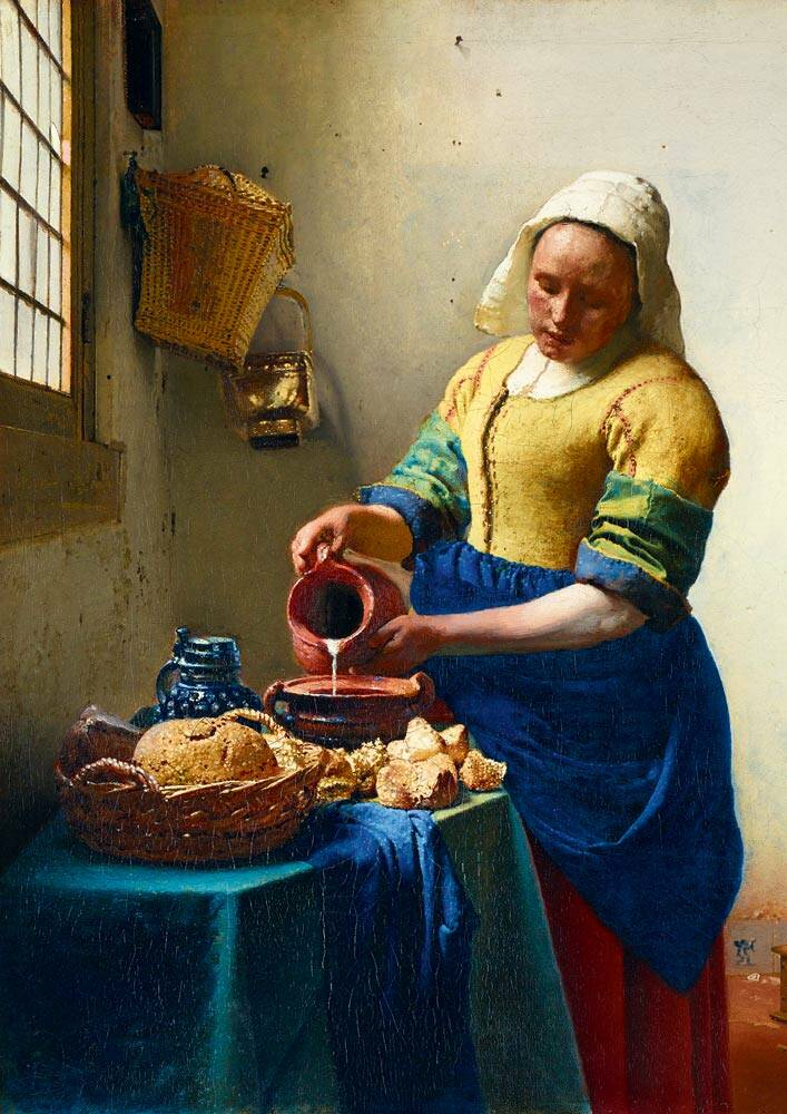 Vermeer- The Milkmaid, 1658 -  Puzzle 1,000 pieces gs13721