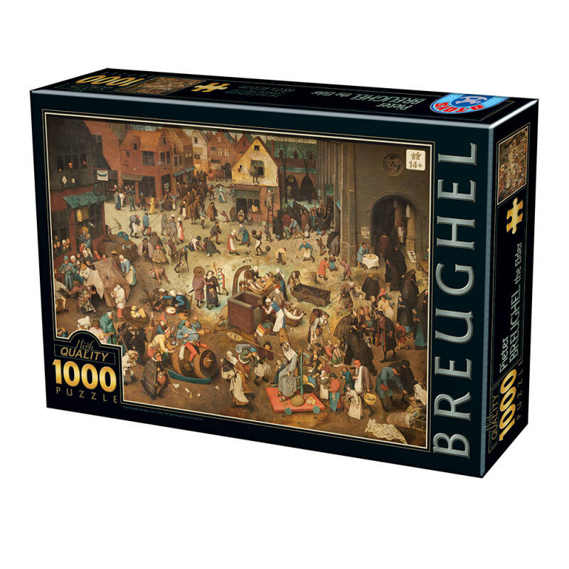 Pieter Brueghel the Elder - The Fight Between Carnival and Lent -  Puzzle 1,000 pieces gs13730