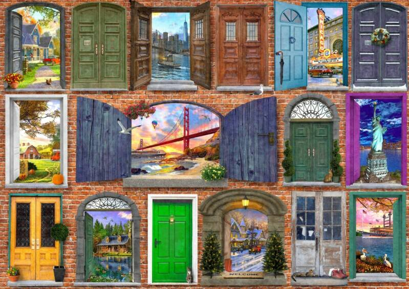 Doors of USA -  Puzzle 2,000 pieces Gs13909