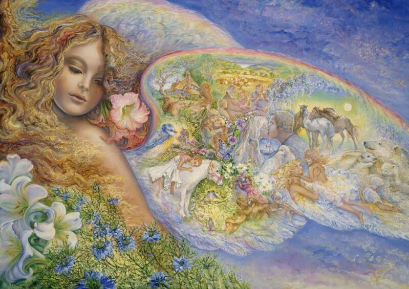 Josephine Wall - Wings of Love -  Puzzle 1500 piece Gs14165