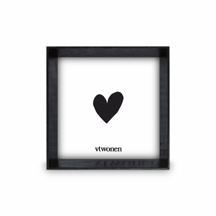 Photo Frame Wood Black 18x18x4