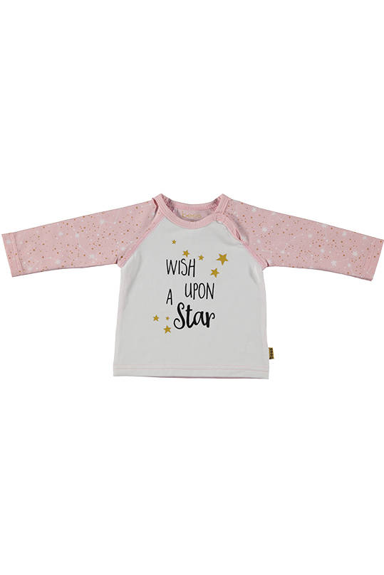 "T-shirt ""wish upon a star"" - Roze - Bess"