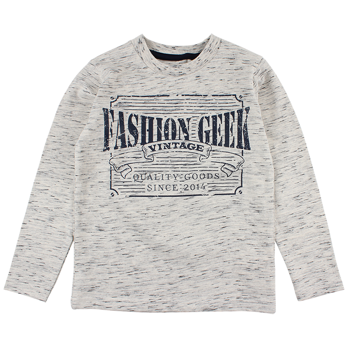 "T-shirt ""Fashion Geek"" - Beige"
