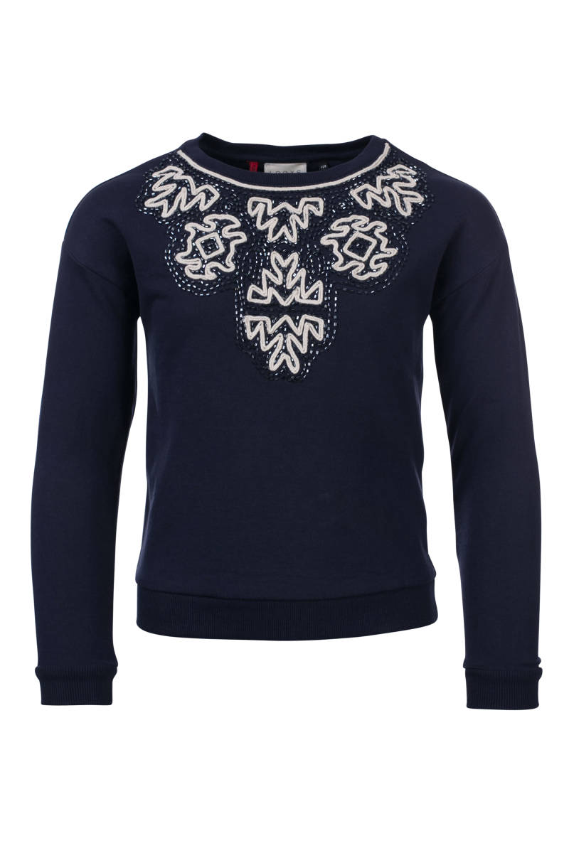 Sweater Parels - Marineblauw