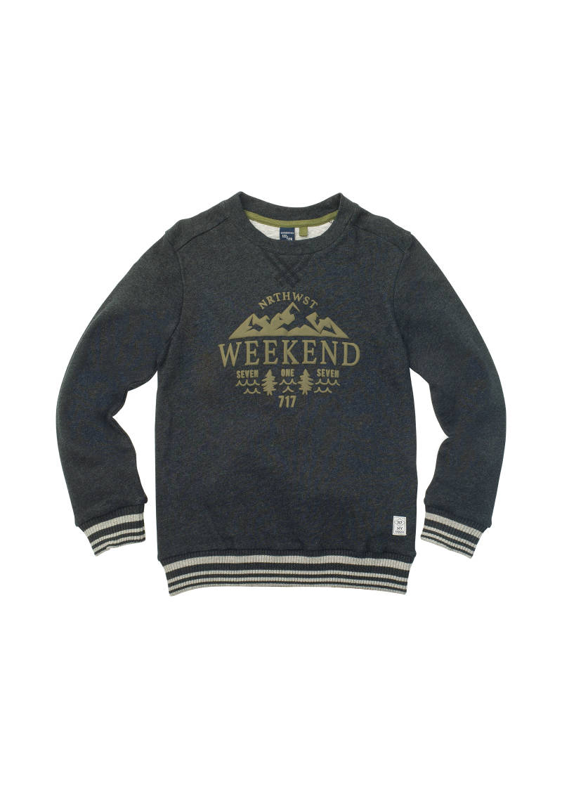 "Sweater ""weekend"" - Zwart - 717"