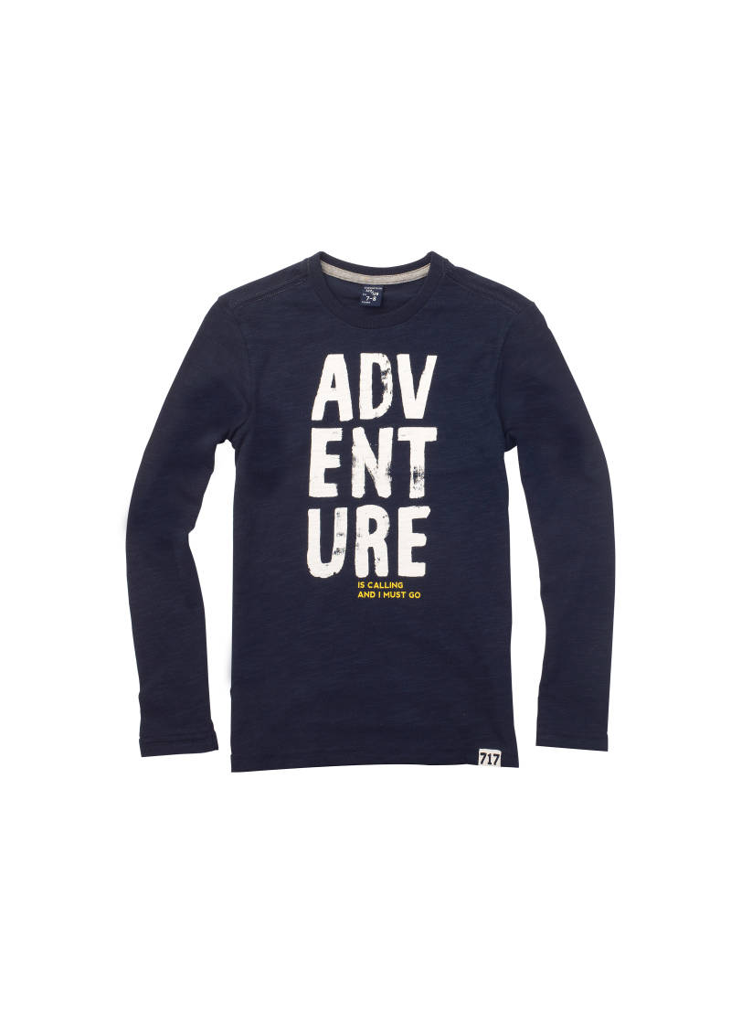 "T-shirt ""adventure"" - Marineblauw - 717"