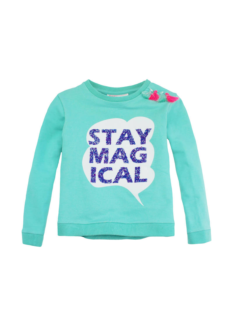 "Sweater ""stay Magical"" - Muntgroen Frenchy"