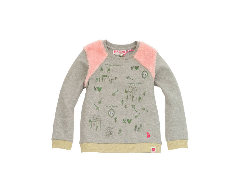 Sweater prinses thema - Grijs - Frenchy