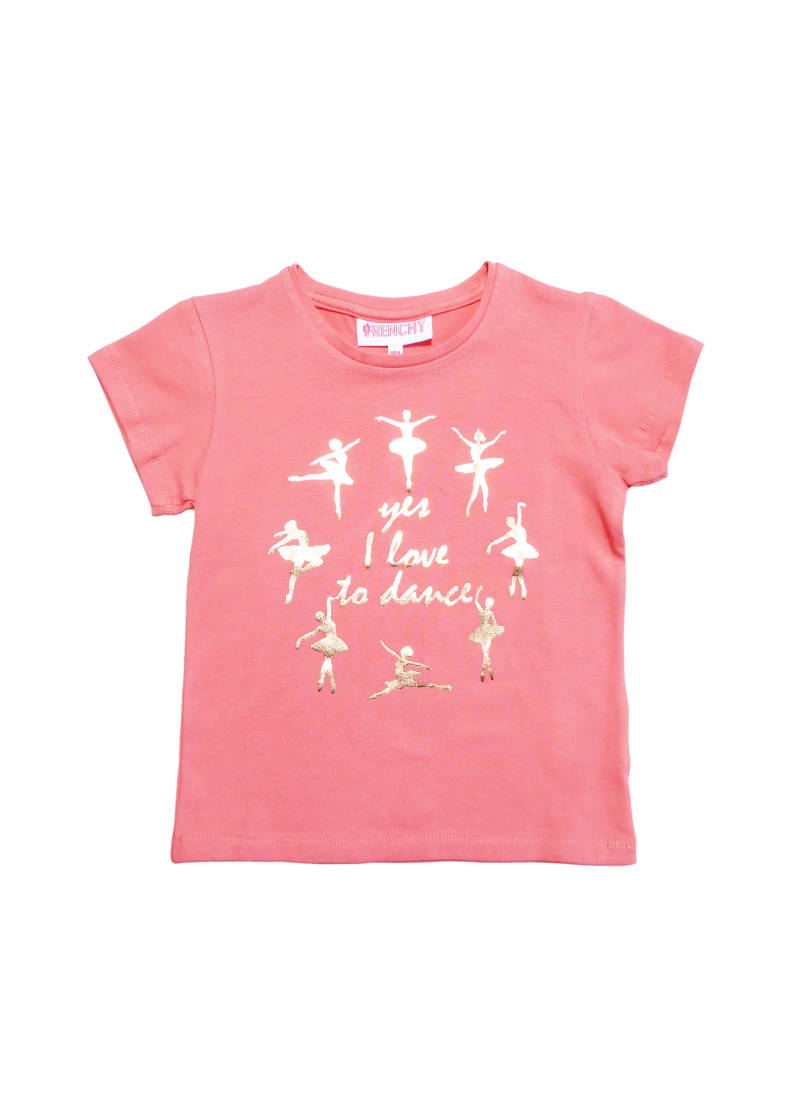 T-shirt ' love to dance' - Roze Frenchy