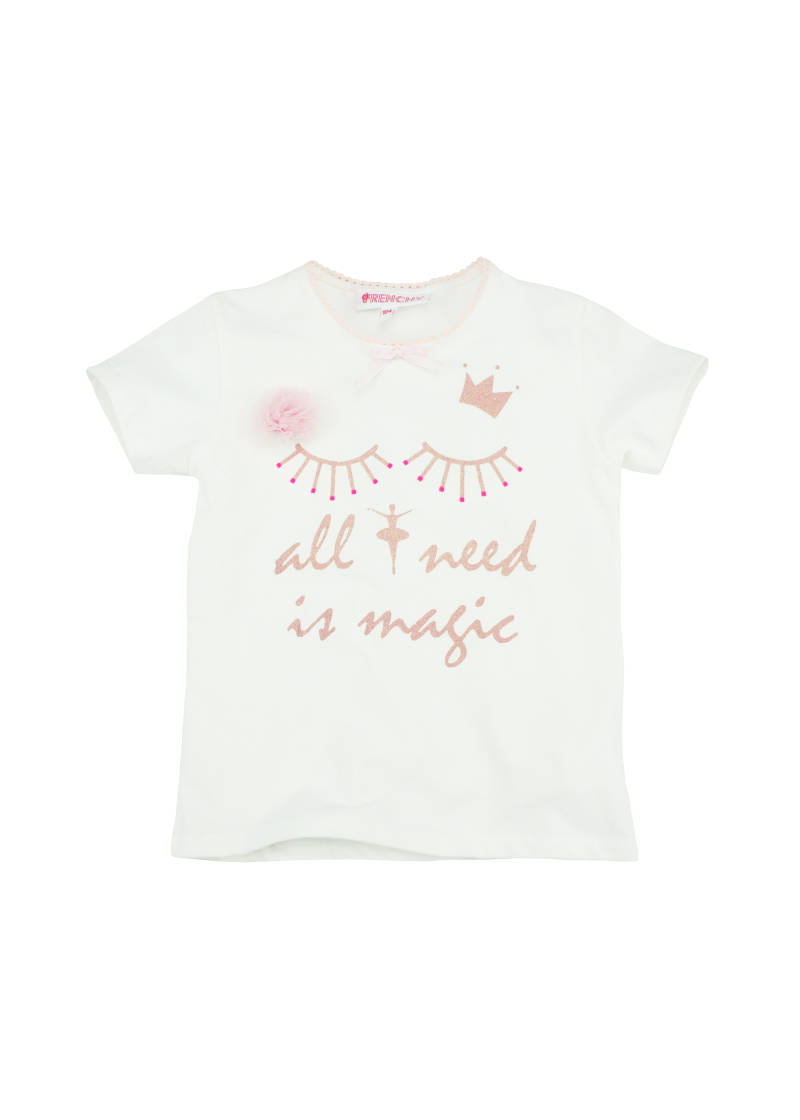 "T-shirt ""all I need is magic"" - Wit Frenchy"