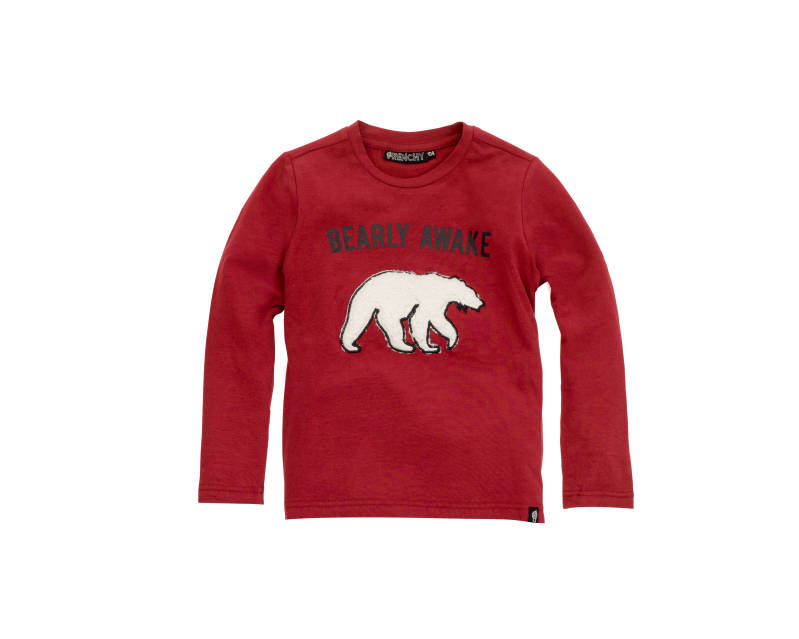 "T-shirt ""bearly awake"" - Bordeaux - Frenchy"