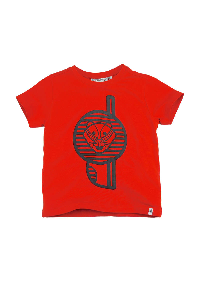 T-shirt leeuw - Rood Frenchy