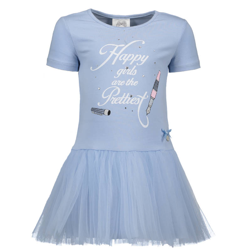 "Jurk ""happy girls"" - Lichtblauw Le chic"
