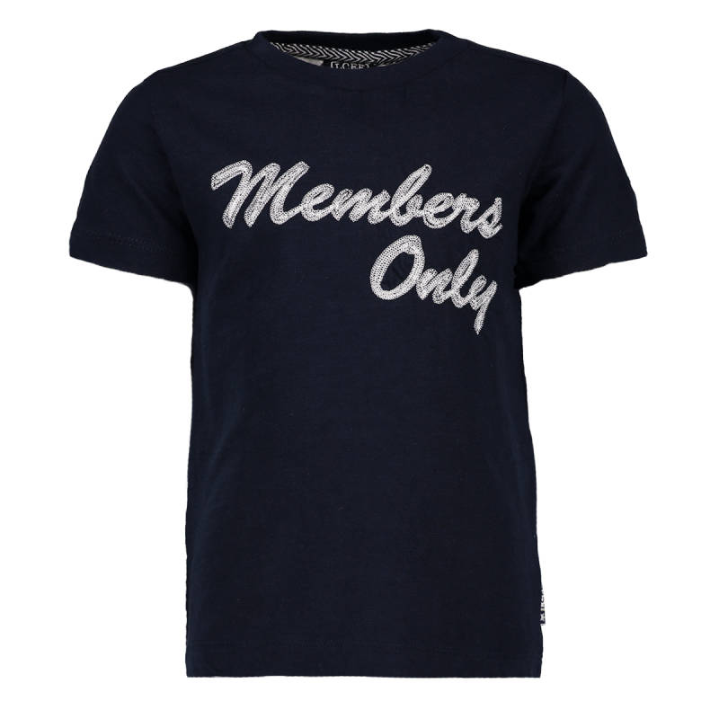 "T-shirt ""Members only"" - Marineblauw Lcee"