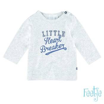 "T-shirt ""little heart breaker"" - Grijs Feetje"