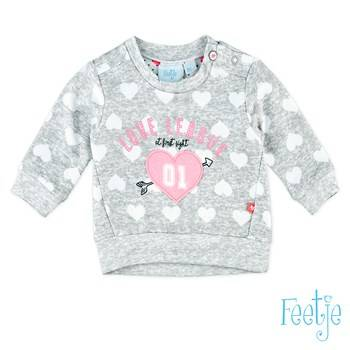 "Sweater ""love at first sight"" -  Grijs Feetje"