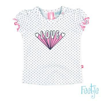 "T-shirt ""love"" - Wit Feetje"