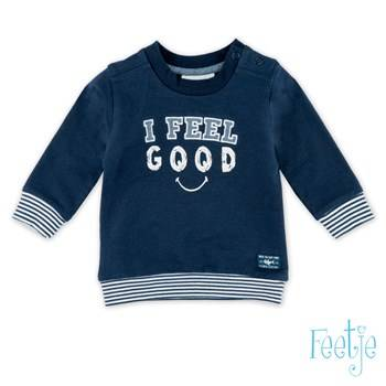 "Sweater "" feel good"" - Marineblauw Feetje"