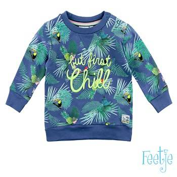 Sweater 'chill' - Blauw Feetje