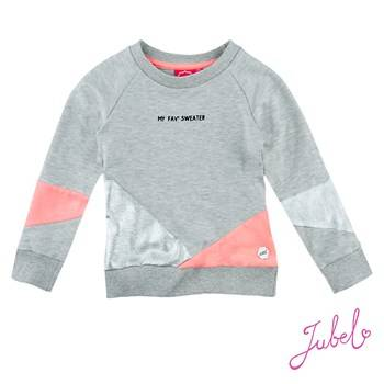 "Sweater "" my fav"" - Grijs Jubel"