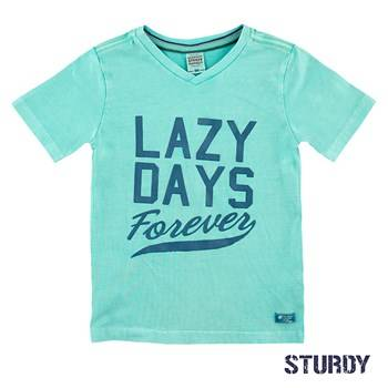 T-shirt 'lazy days' - Muntgroen Sturdy
